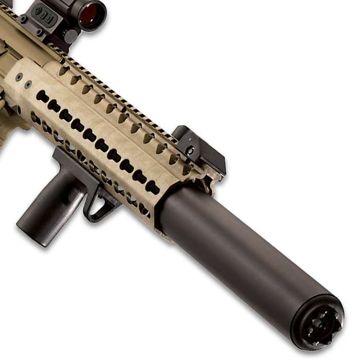 """Sig Air MCX Flat Dark Earth Air Rifle With Micro Red Dot Sight - Synthetic Stock, 30-Round Pellet Magazine, 700 FPS - Length 34 3/4"""""""