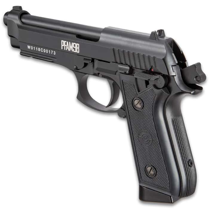 """Crosman Full-Auto BB Pistol - Blowback Action, Full Metal Frame And Slide, 400 FPS, 20-Shot Magazine - Length 8 1/2"""""""