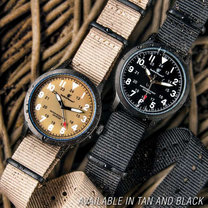 Smith & Wesson NATO Wristwatch - Canvas Band - Black