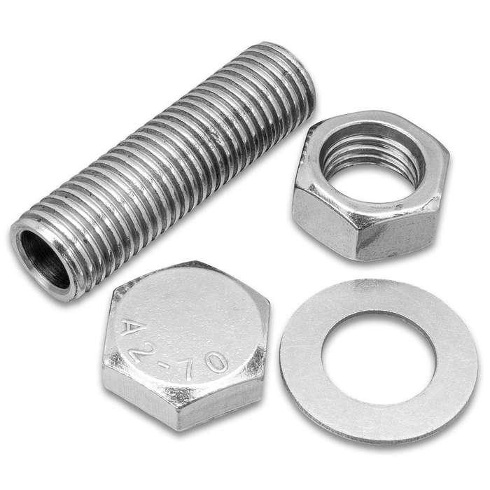 """Discreet Spy Nut And Bolt Safe - Constructed Of Solid Stainless Steel, Hidden Compartment, Screw-Top Lid - Length 2"""""""