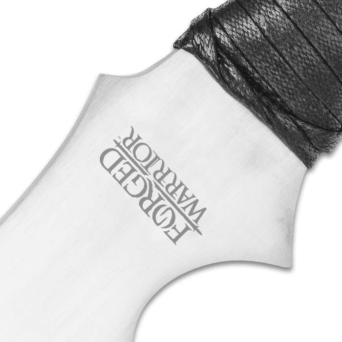 Forged Warrior Jungle Beast Short Sword - Ultratough High Carbon Spring Steel; Solid One-Piece Construction - Genuine Leather Handle, Sheath - Samurai / Ninja Style - Functional, Battle Ready - 27""