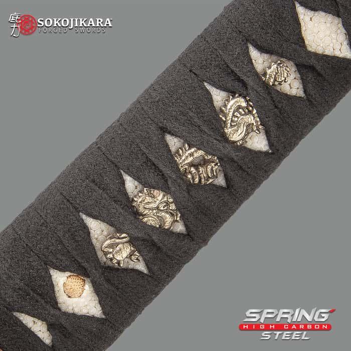 Sokojikara Kengo Golden Dragon Sword - 5160 High Carbon Spring Steel