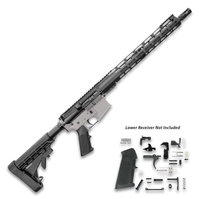 "TACFire AR-15 Rifle Build Kit - 5.56 NATO 16"" Barrel With Lower Parts Kit, M-LOK Handguard, Six-Position Stock, Pistol Grip"