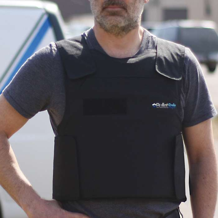 BulletSafe Bulletproof Vest - NIJ Level IIIA Protection Protects Against Most Handguns, Comfortable And Adjustable, Concealable
