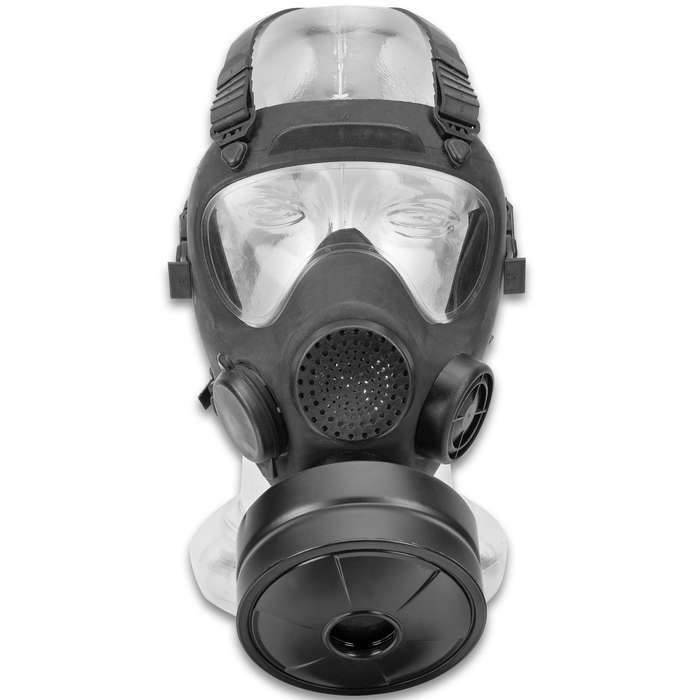 Polish Gas Mask MP5 With Filter And Transport Bag, Protective Eye Lens, Authentic Military Surplus