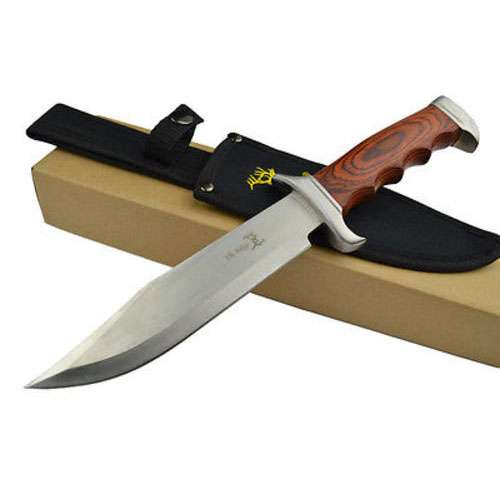 Elk Ridge Fixed Blade Hunting Knife with Nylon Sheath