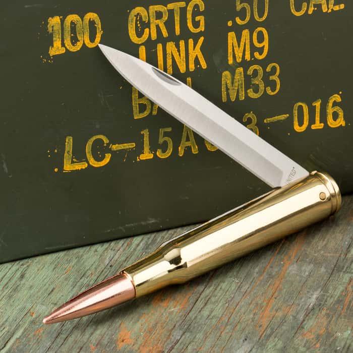United Cutlery 50 Cal. Bullet Pocket Knife