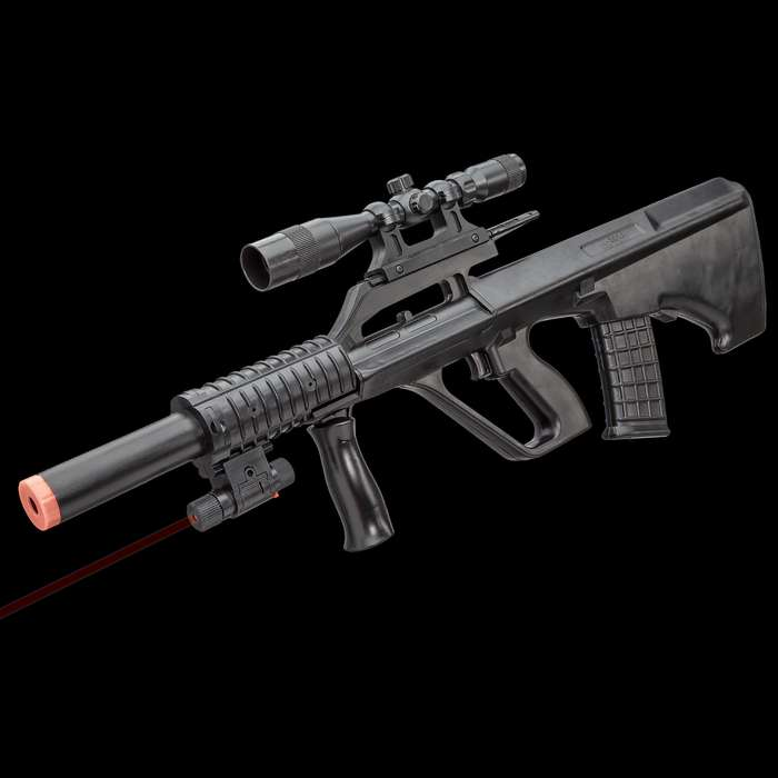 UKArms P2300 Spring Powered Rifle With Laser Scope - Tough ABS Construction, 230 FPS, Detachable Magazine - Length 23 3/4""