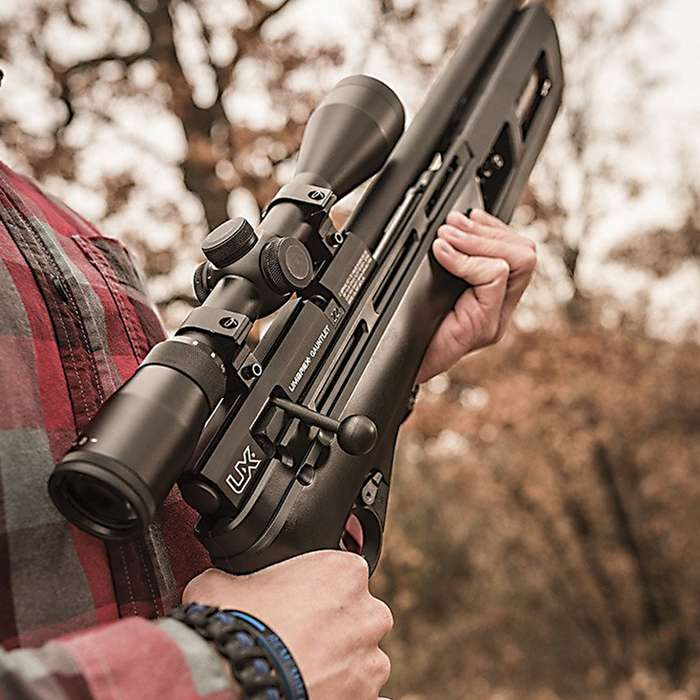 """Umarex Gauntlet .22 PCP Air Rifle - Synthetic Stock, Adjustable Trigger, 10-Shot Magazine, 1,000 FPS, Dovetail Rail - Length 46 3/4"""""""