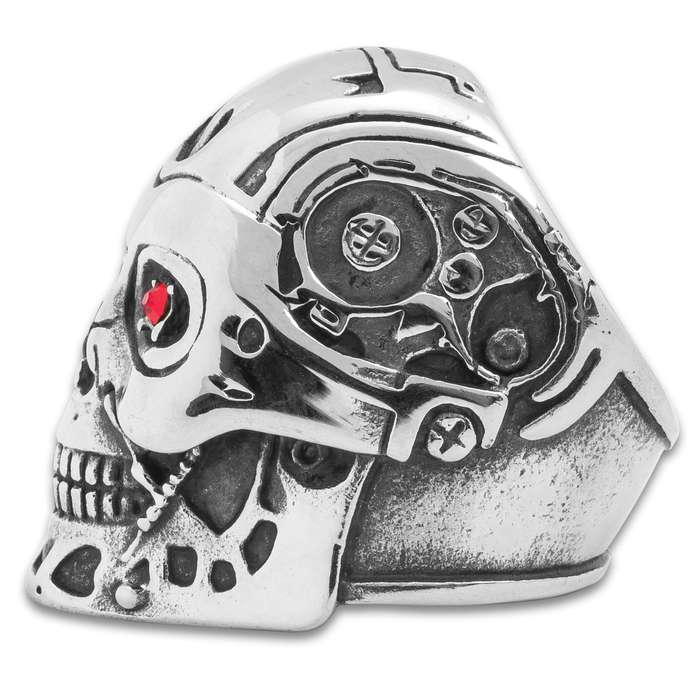 Twisted Roots Automaton Skull Ring
