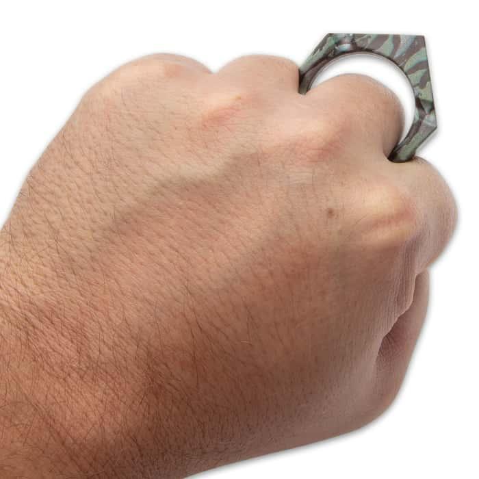 Camo Skull Knuck Self Defense Key Chain
