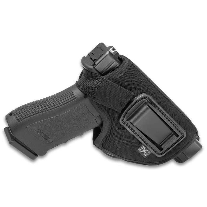 M48 OPS Concealed Belt Holster - Padded Polyester Construction, Front Arch Design, Thumb Strap