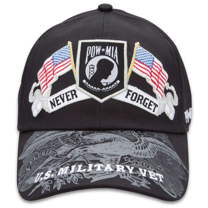 Double Down Never Forget POW MIA Black Light Cotton Twill Cap