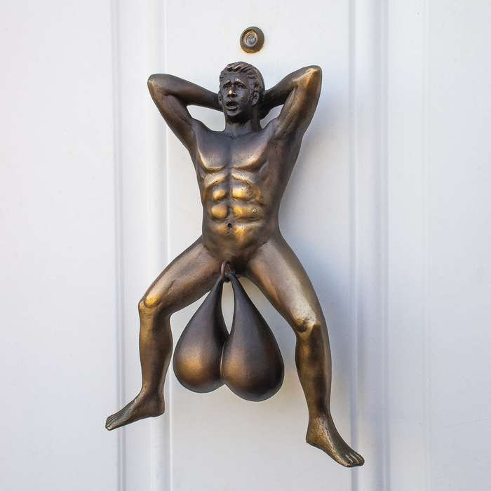"""Doorballs Door Knocker - High-Quality PVC Construction, Incredibly Detailed, Mounting Tape - Dimensions 9""""x 6""""x 2"""""""