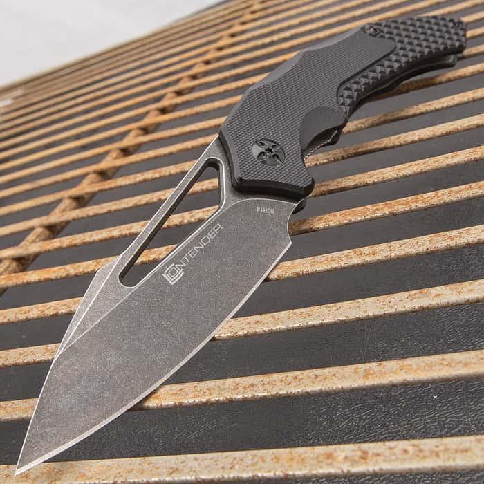 Contender Aileron Advanced Ball Bearing Pocket Knife - 8Cr14Mov Steel Blade, Computer Grind Finish, Nylon Fiberglass Handle Scales, Pocket Clip