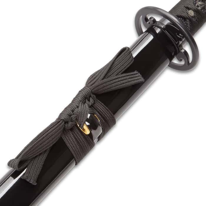 Shinwa Unbroken Night Handmade Katana / Samurai Sword - Hand Forged Black Damascus Steel - Razor Sharp, Full Tang - Fully Functional, Battle Ready, Ninja Sleek - Faux Ray Skin