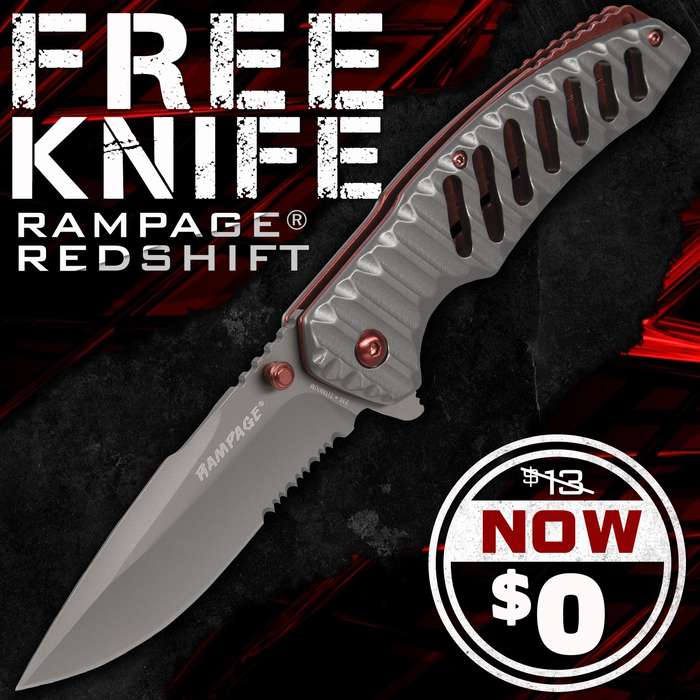 FREE Rampage RedShift Assisted Opening Pocket Knife