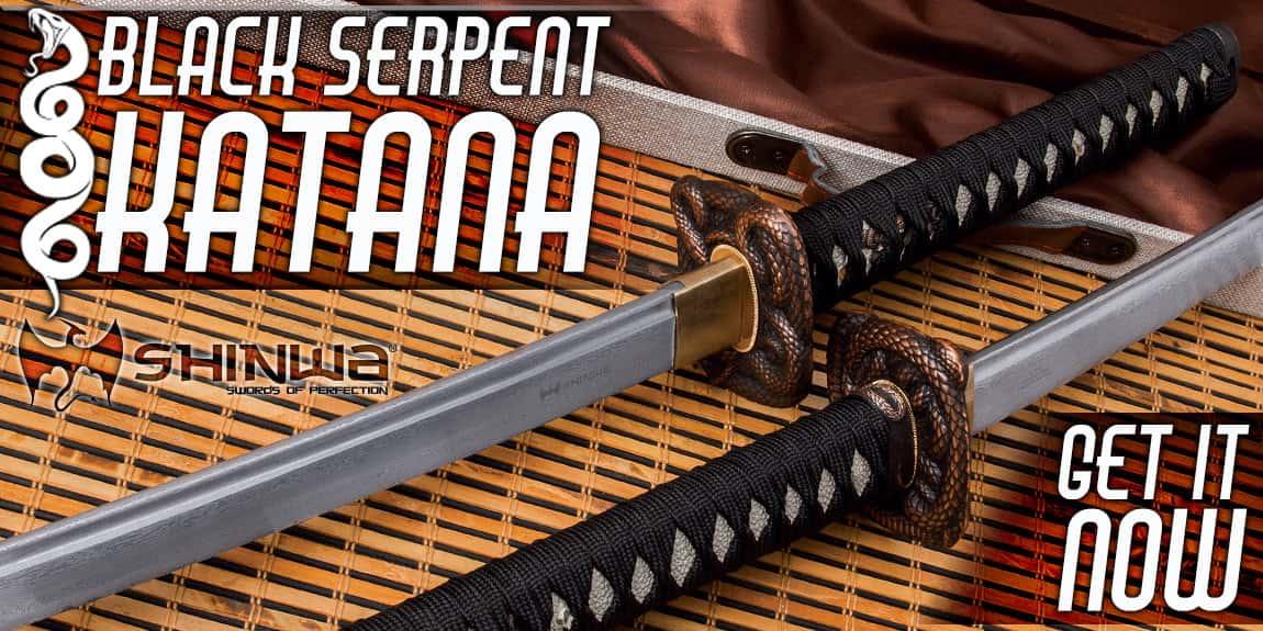 SHINWA BLACK SERPENT KATANA AND SCABBARD