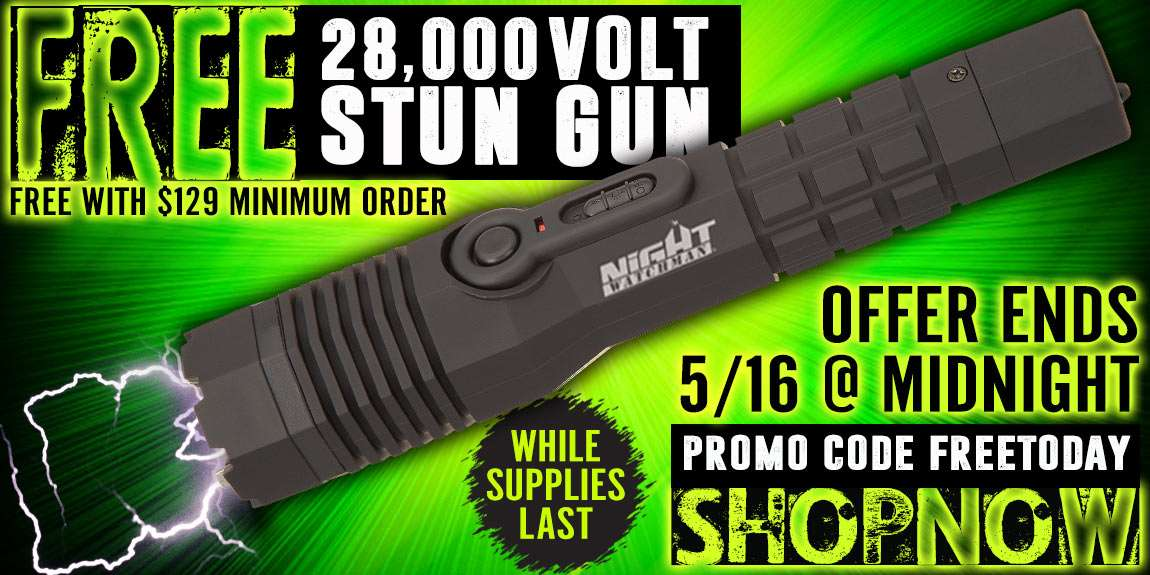 Free stun gun $129 min