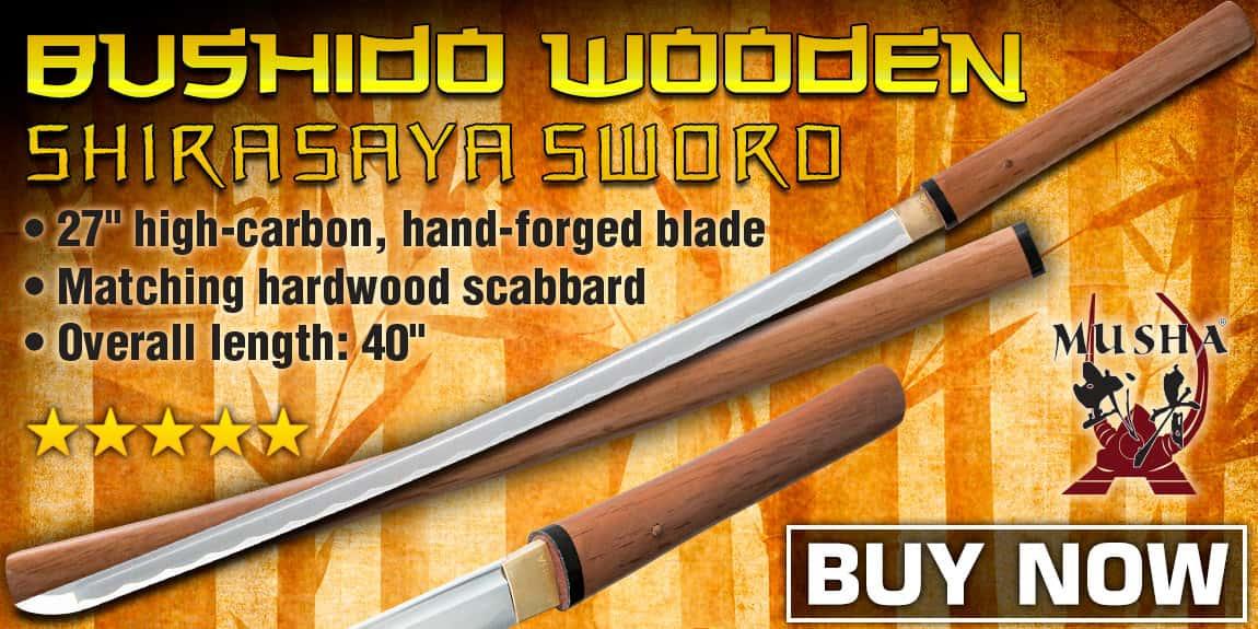 Musha Bushido Natural Wooden Shirasaya Sword