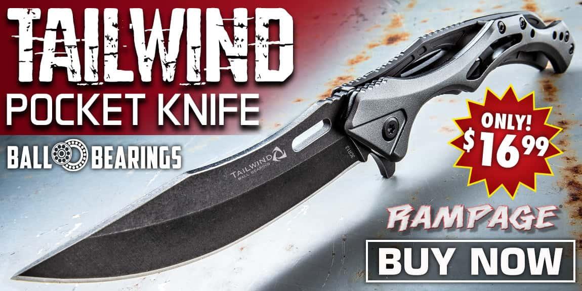 Rampage Tailwind Ball Bearing Pocket Knife