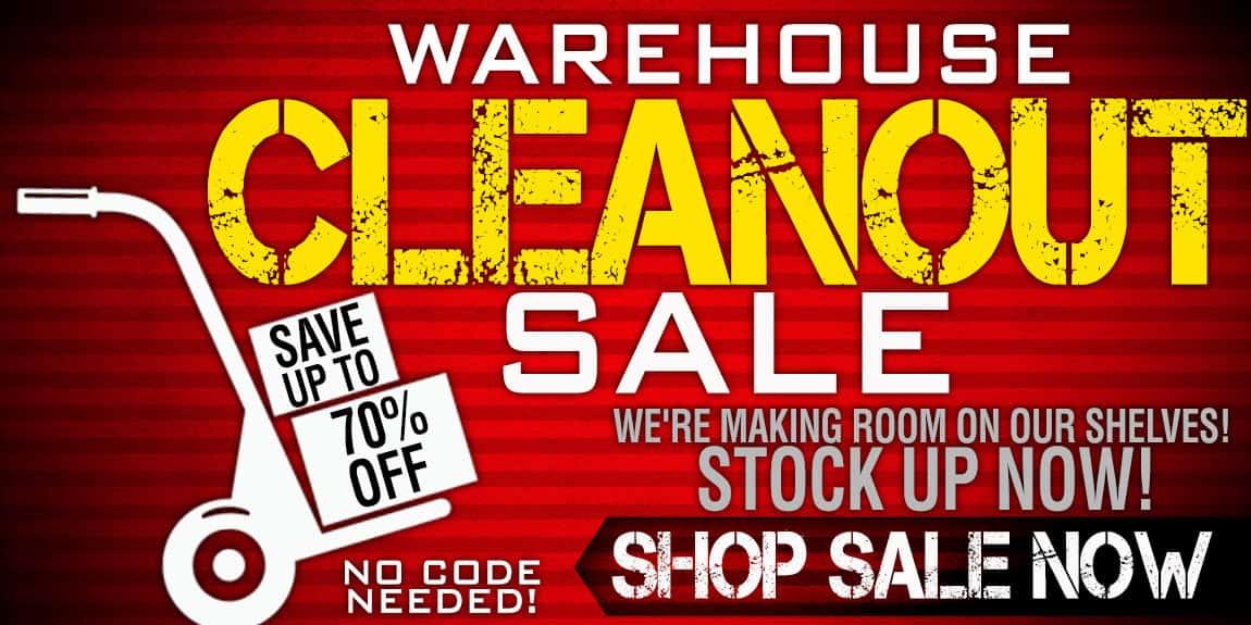 WAREHOUSE CLEANOUT SALE