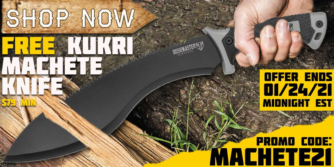 Free Kukri Machete $79 Minimum order