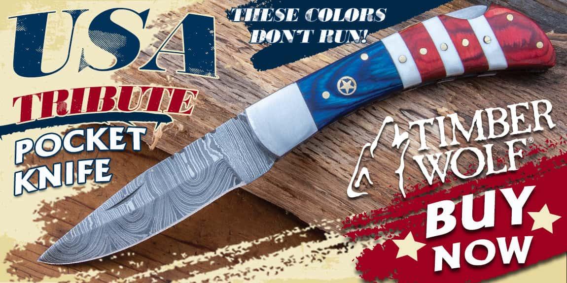 TIMBER WOLF USA TRIBUTE POCKET KNIFE