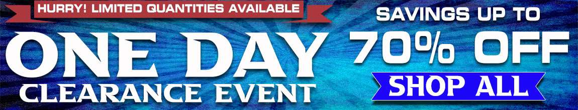 ONE DAY CLEARANCE EVENT