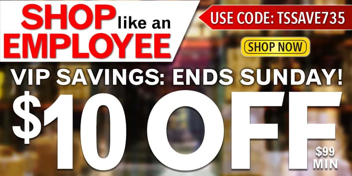 Employee Discount Sale
