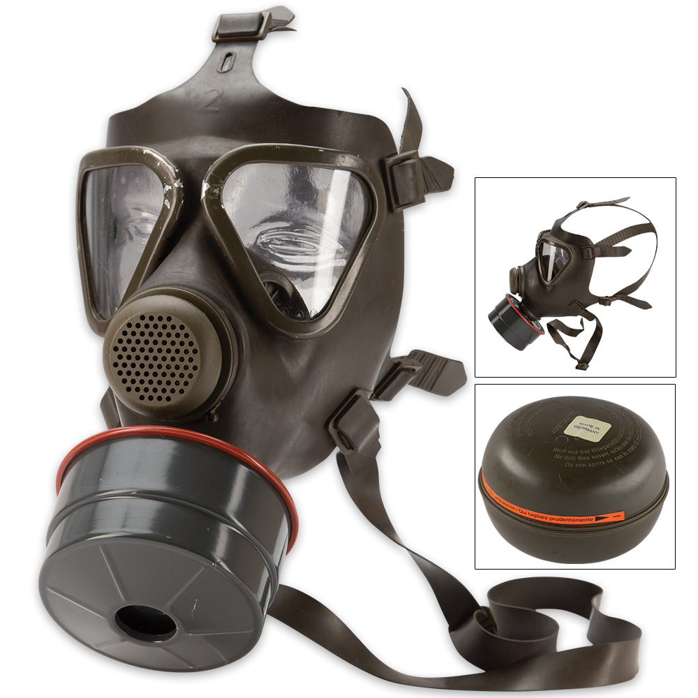 German M65 Gas Mask With Filter Like New Kennesaw Cutlery