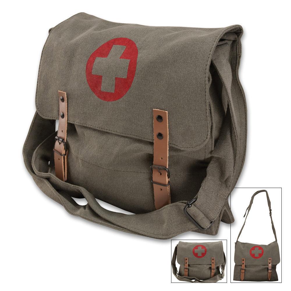 rothco olive drab medic bag messenger shoulder kennesaw