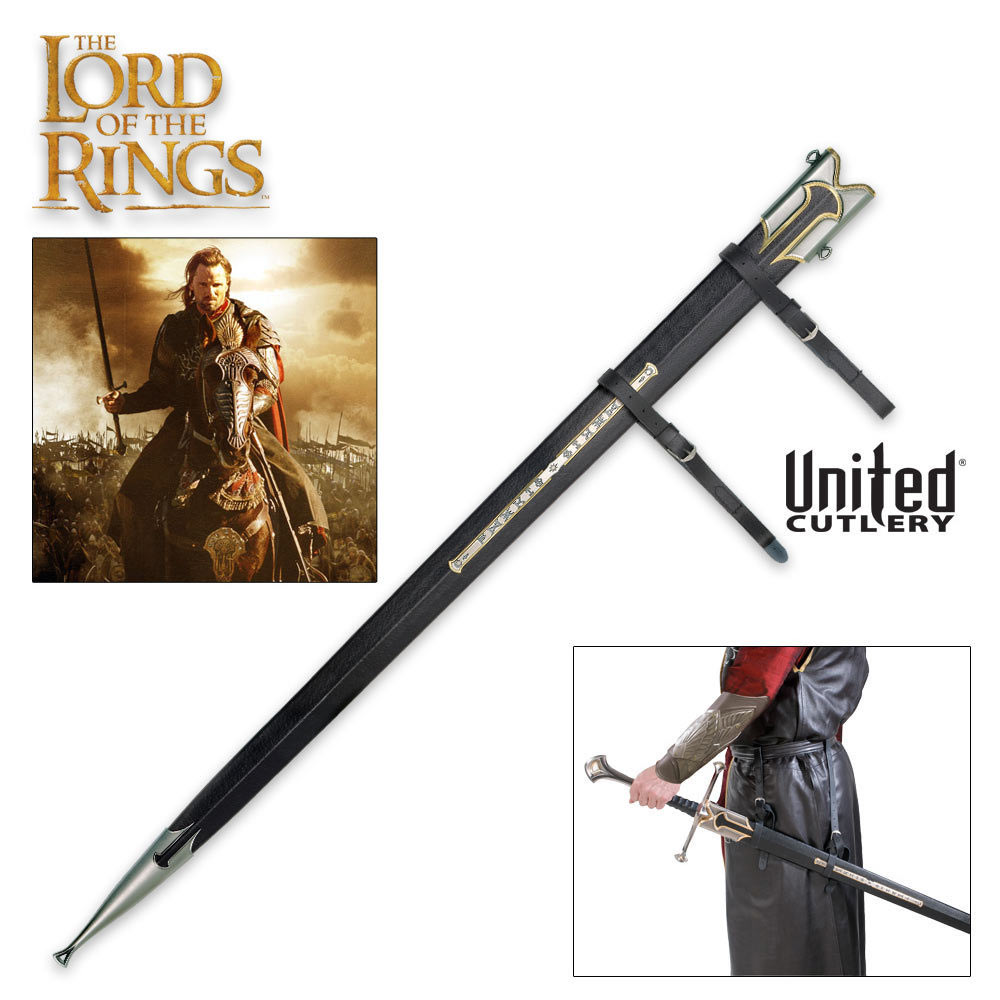 United lotr images uc1380aslb anduril jpg - The Lord Of The Rings Anduril Scabbard Budk Com Knives Swords At The Lowest Prices