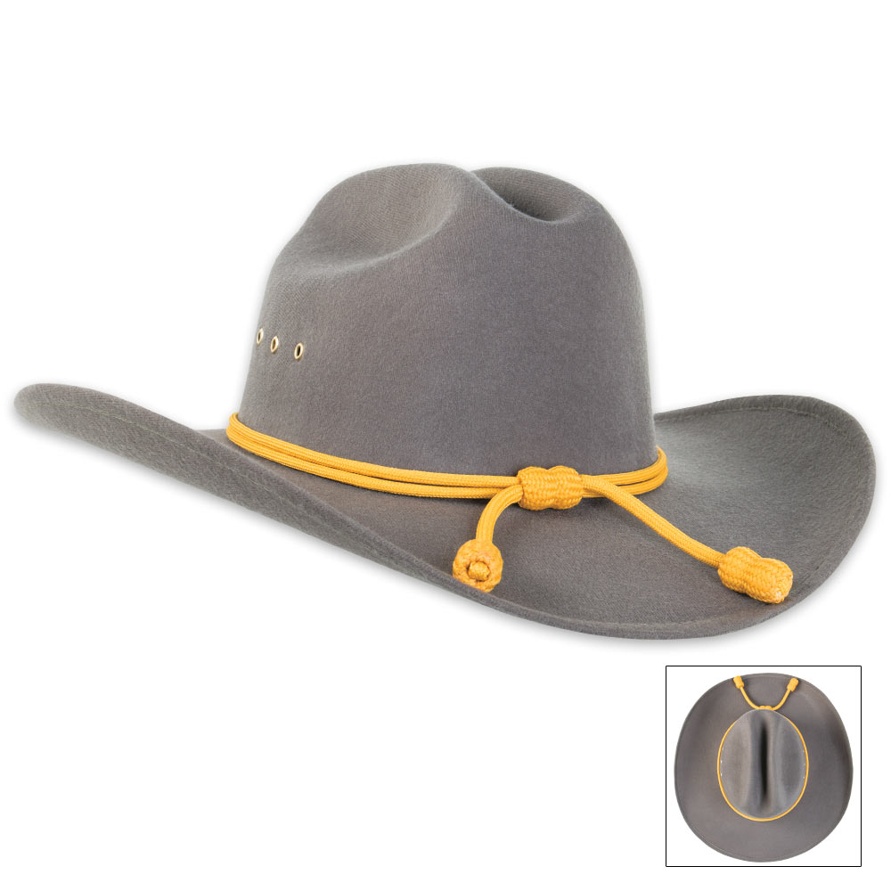4a9660b70d9 Confederate Officer Dress Hat With Gold Tassels BK2906 – Wolfclan Armory