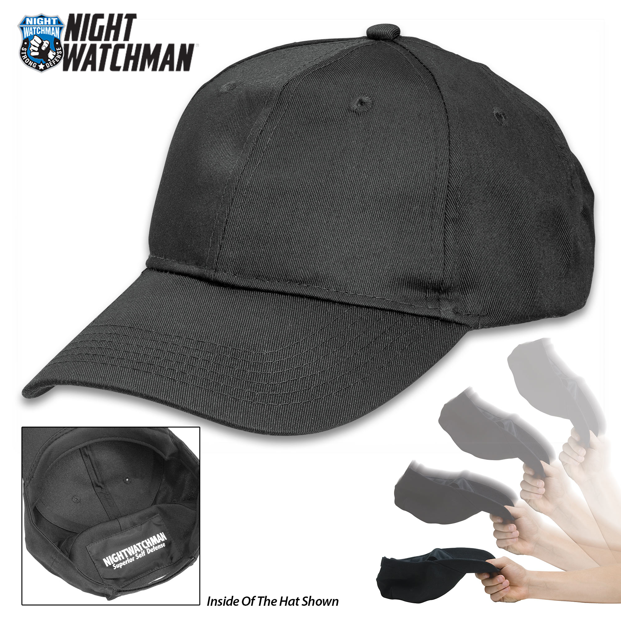 309e55472fe Night Watchman Self Defense SAP CAP with Lead Pocket BK1438 ...