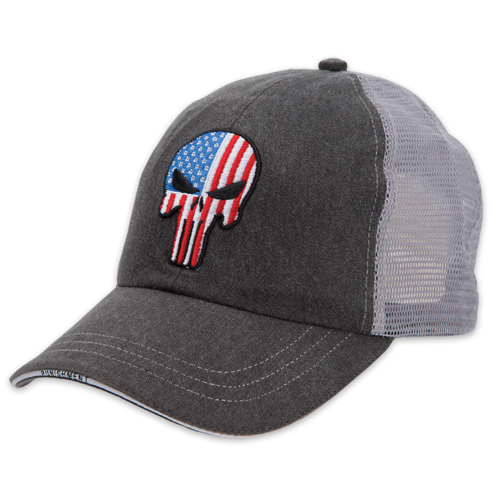 fe932b59e1e The Punisher American Flag Cap – Hat BK3025