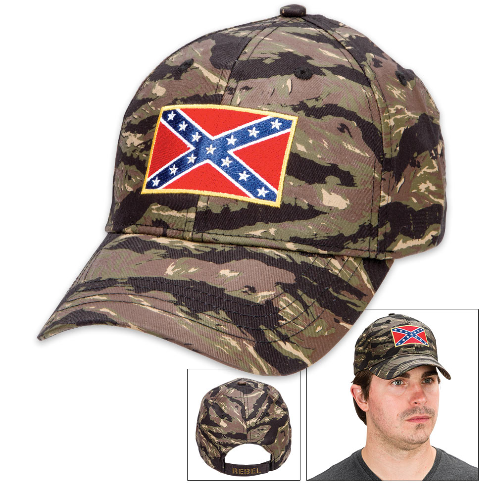 bfb51f756 Double Down Rebel Flag Camo Cap - Hat