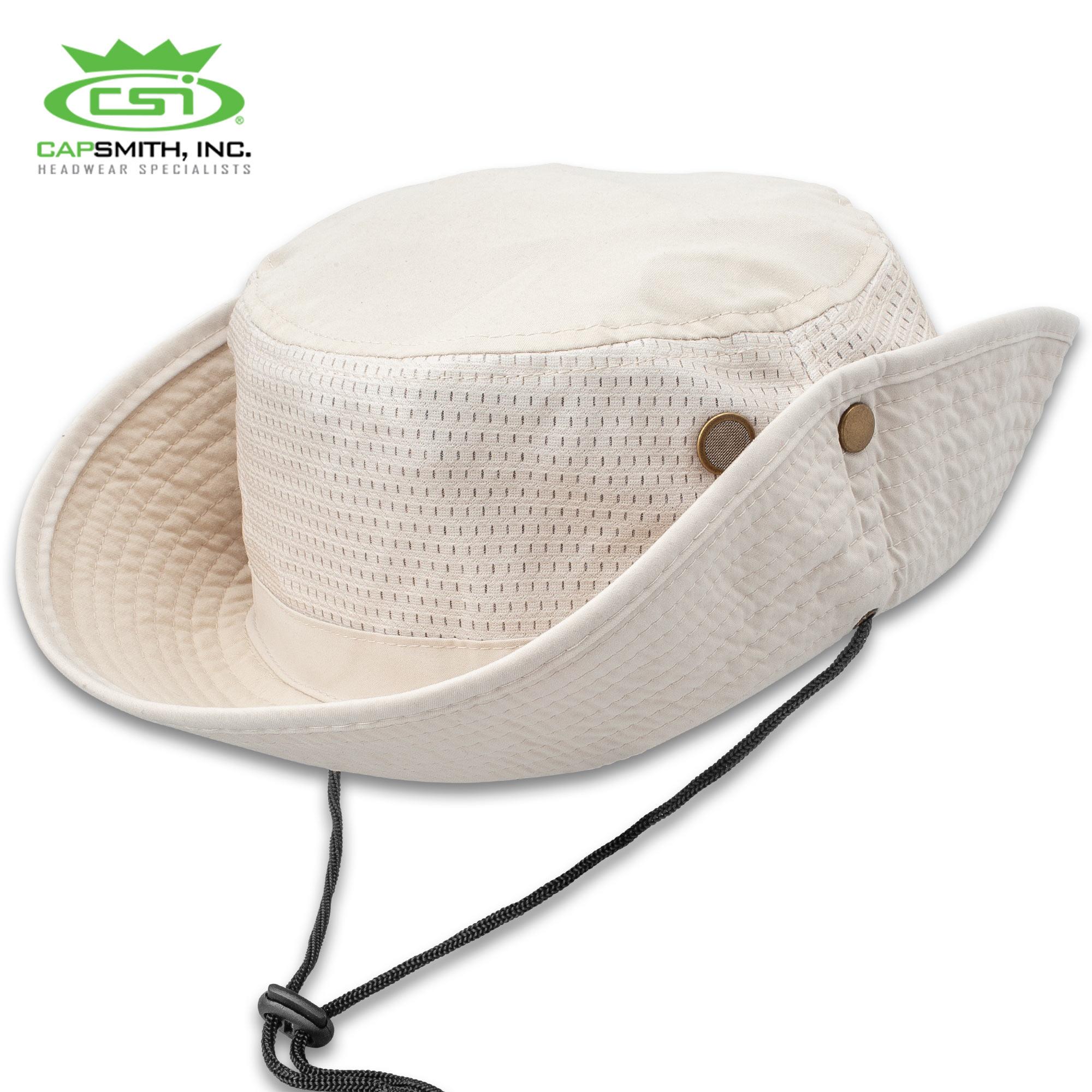 ba0da25e0 Mesh Jungle Hat - Microfiber Construction, Stone Color, Sweatband ...