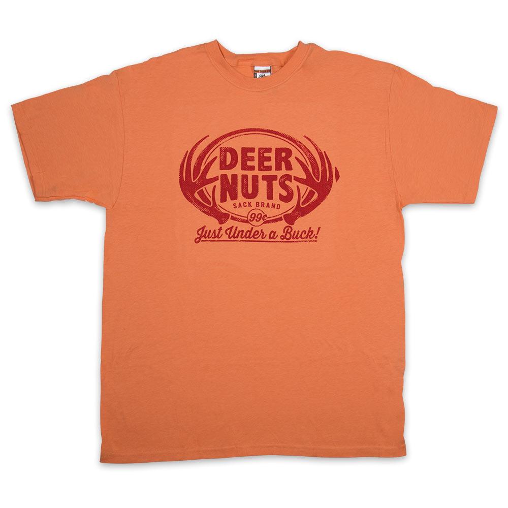 Deer Nuts Melon Orange T-Shirt | CHKadels.com | Survival ...