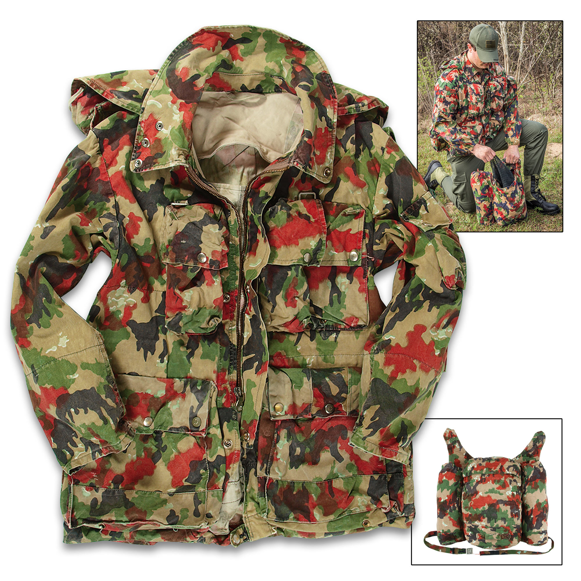 744f6ad06 Swiss Army M70 Field Jacket / Coat with Rucksack / Backpack ...
