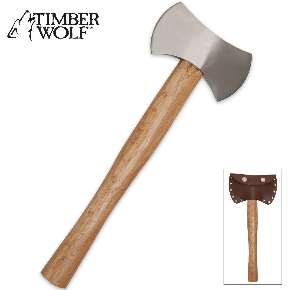 Timber Wolf Double Bladed Hatchet / Throwing Axe ...