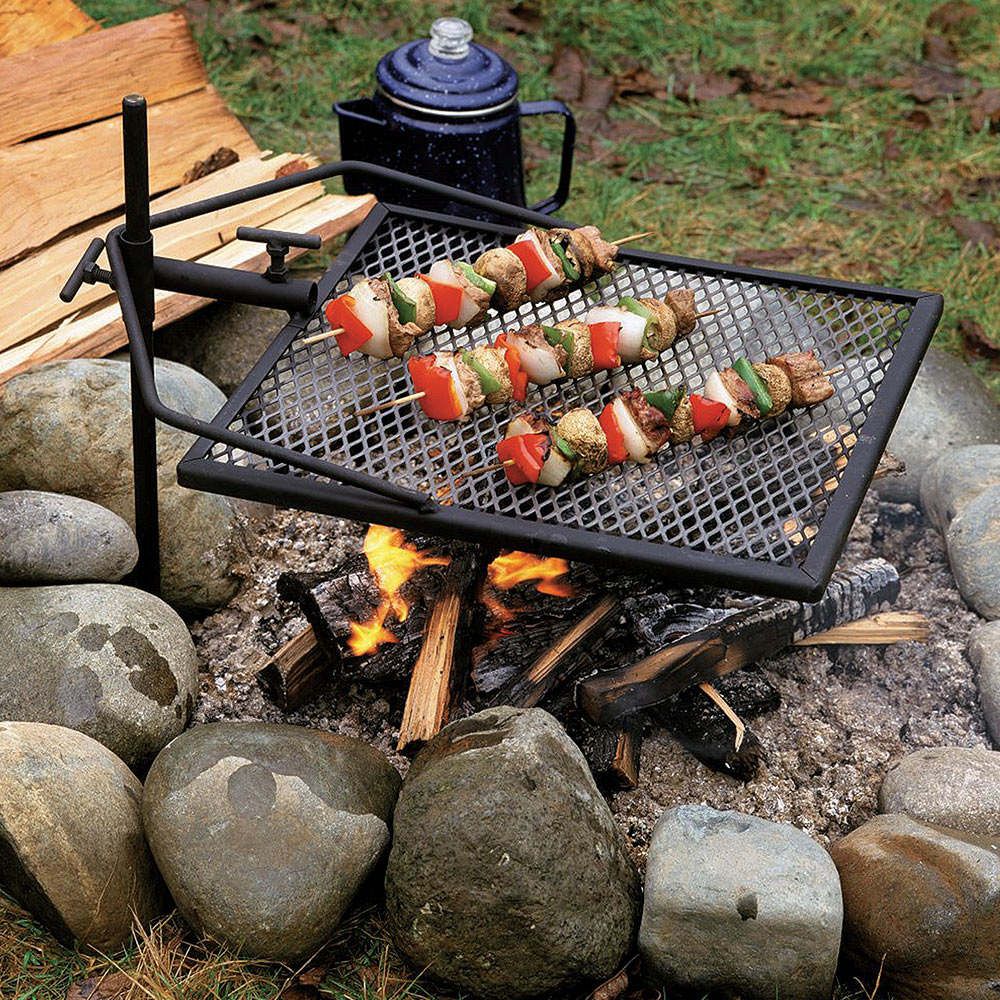 fire pit grate adjust a grill portable campfire swivel grill for 29233