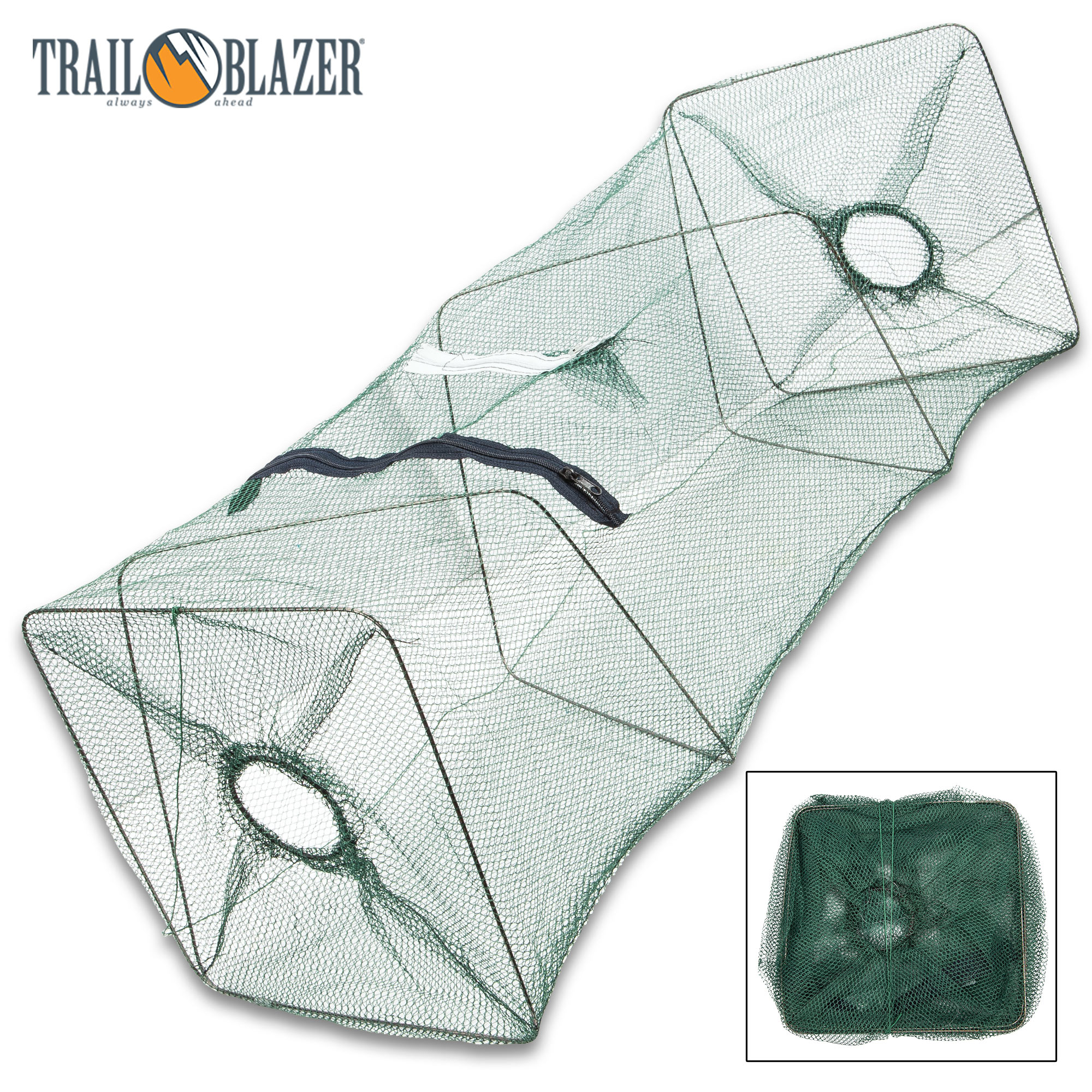 Trailblazer Collapsible Live Fishing Bait Trap - Large