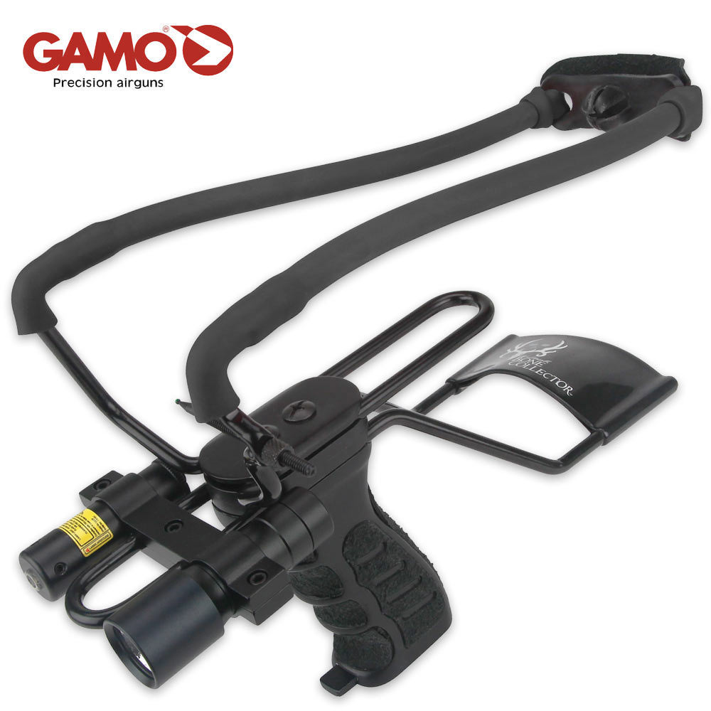 Gamo Bone Collector Slingshot With Laser And Light Budk