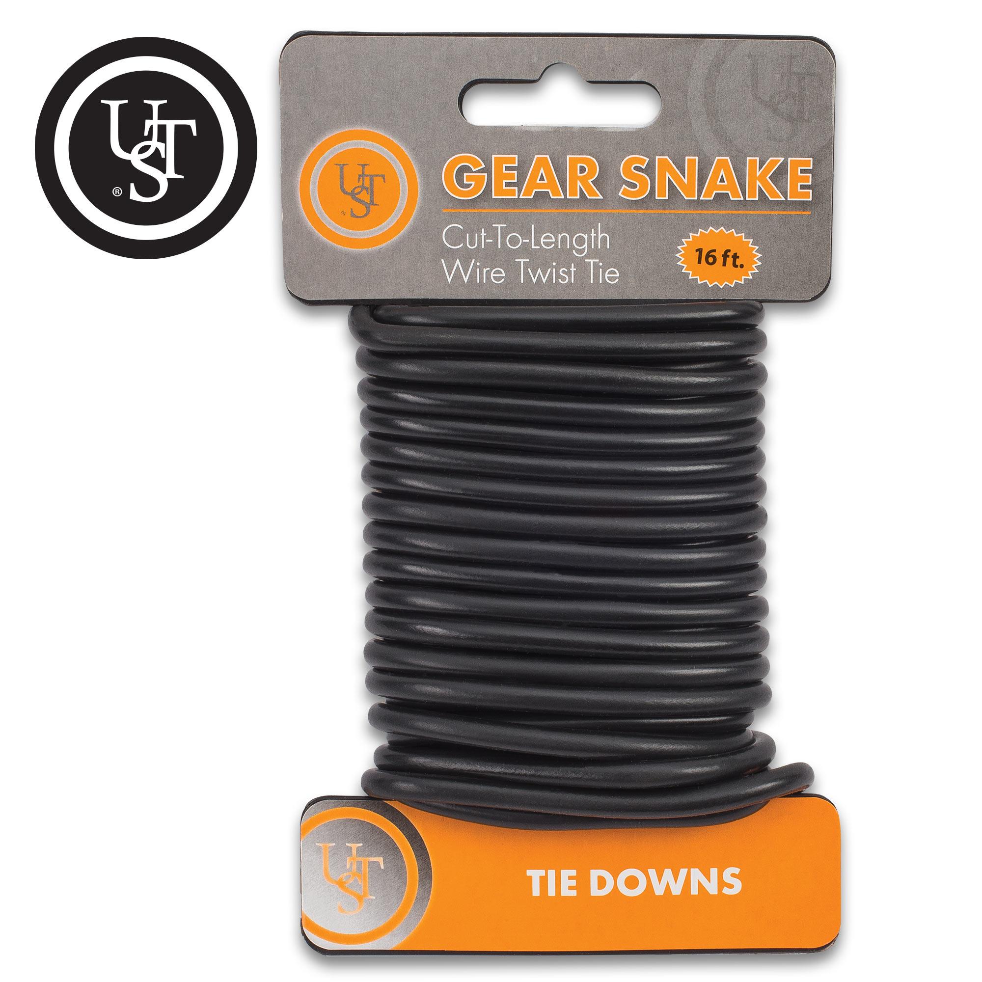 Ust Black Gear Snake Cord Steel Wire Flexible Rubber