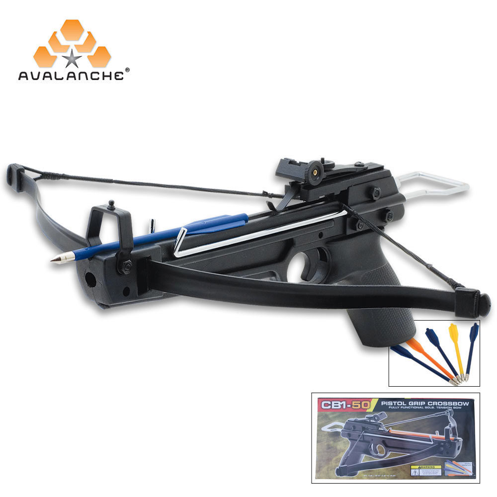 Avalanche mini crossbow tactical pistol 50 lb for Fishing crossbow pistol