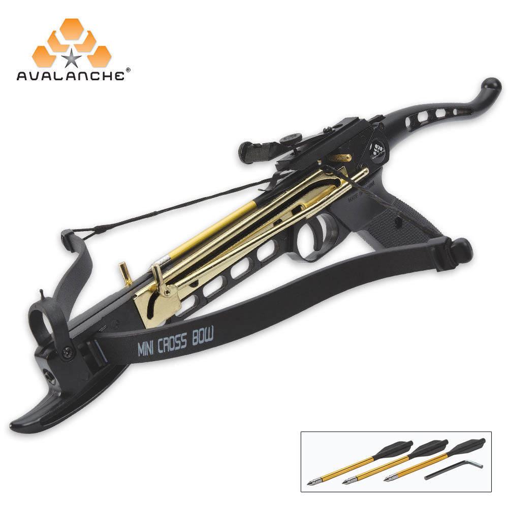 Cobra self cocking tactical crossbow pistol 80 lb budk for Fishing crossbow pistol