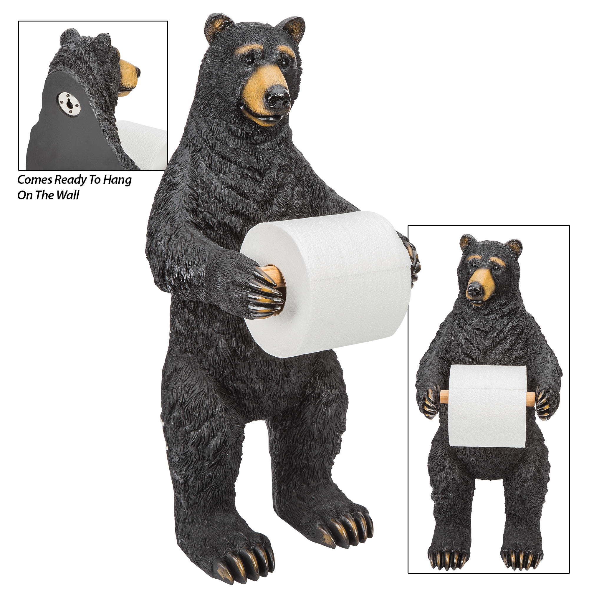 Bear Standing Toilet Paper Holder  Budk  Knives & Swords At The  Lowest Prices!