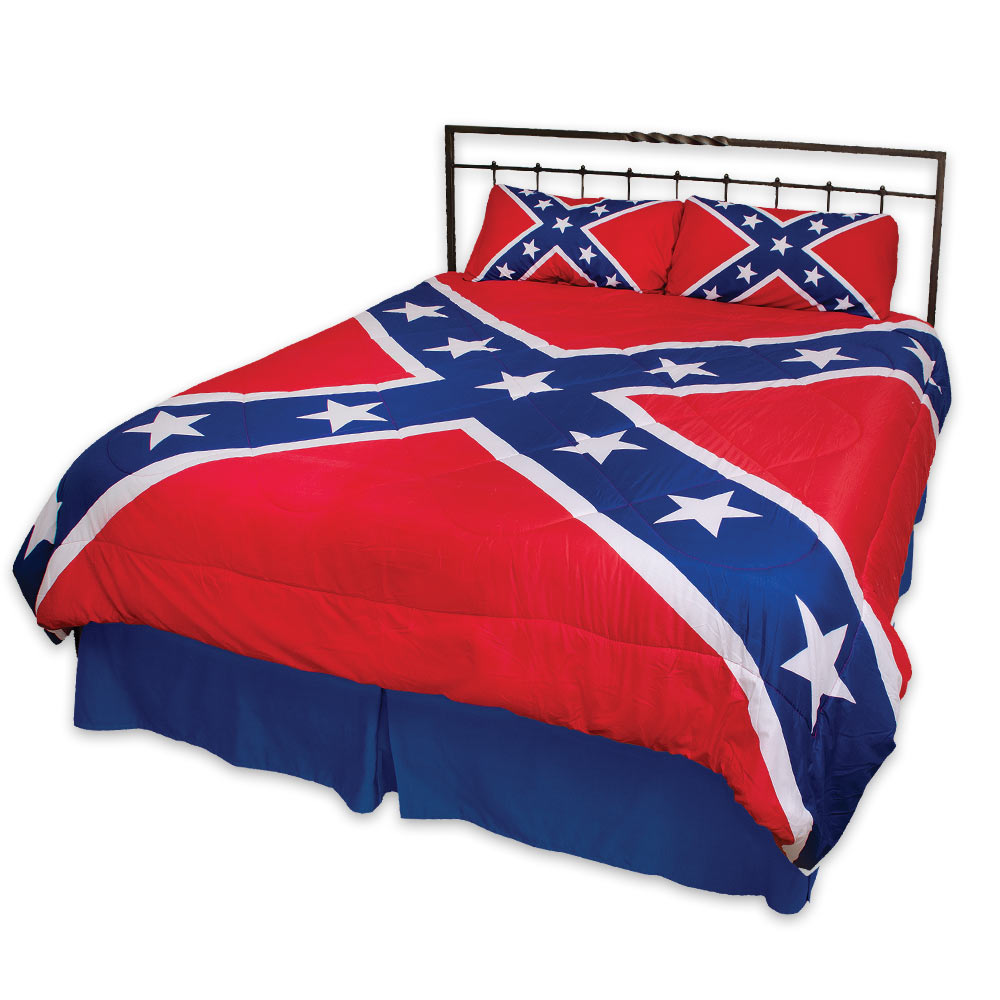 rebel flag three piece comforter set budk com knives swords at