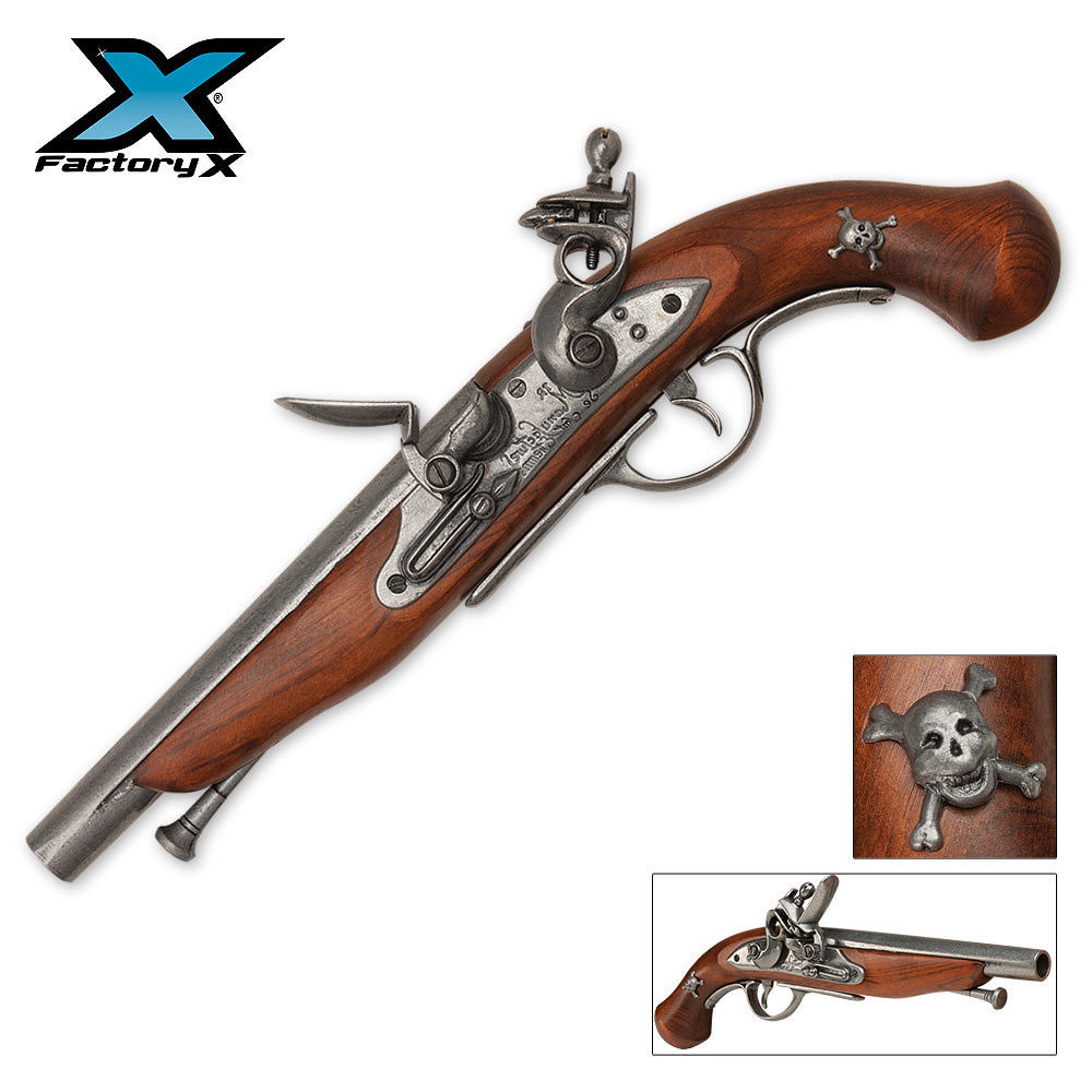 Replica Pirate Flintlock Pistol | BUDK.com - Knives ...